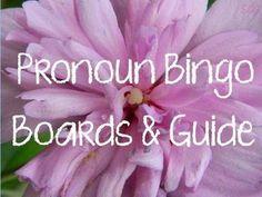Pronoun Bingo Boards and Guide - Stephanie Sawyer - TeachersPayTeachers.com
