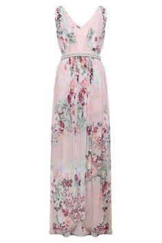 Vestido Crepe Floral Acrópole