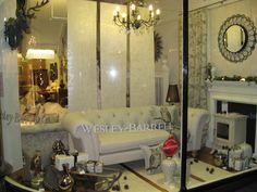 Harrogate's lovely white christmas window display, 2012  #WesleyBarrell