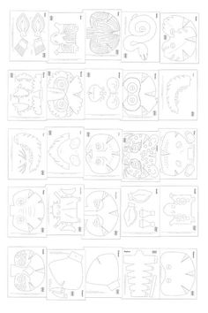 Printable color in mask templates - Make your own DIY maks Mascara is a cosmetic commonly used to en Cardboard Mask, Cardboard Crafts, Paper Crafts, Animal Mask Templates, Printable Animal Masks, Zebra Mask, Free To Use Images, Paper Mask, Maquillage Halloween