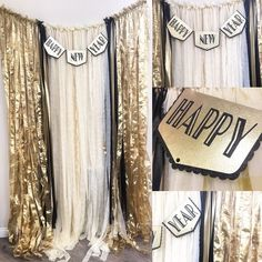 Gangster, casino or harlem nights theme new year backdrop, diy party New Years Eve Decorations, Gold Christmas Decorations, Black And Gold Party Decorations, Great Gatsby Party, Nye Party, New Year Backdrop, Harlem Nights Theme, Silvester Outfit, Art Deco