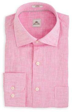 Peter Millar | Linen Sport Shirt in Retro Pink