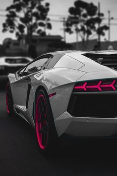 cool Sensational White & Pink #Lamborghini Aventador - #Amazing...  Awesome Vehicles & Related