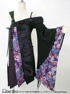 7305 One shoulder kimono kade - Intermission., Ltd