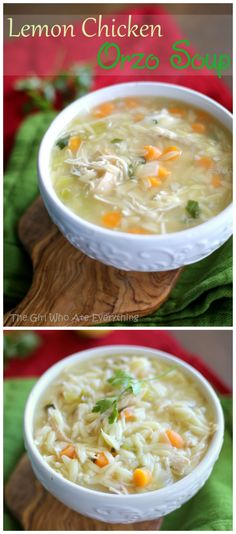 Lemon Chicken Orzo Soup - One of my favorite soups for fall.