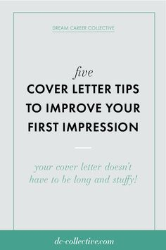 Your cover letter doesn't need to be as complicated as you're making it. If you're trying to get an awesome cover letter to help your job search, click through to learn about the five tips that will help you improve your first impression! Great Cover Letter Examples, Great Cover Letters, Best Cover Letter, Cover Letter Tips, Writing A Cover Letter, Cover Letter For Resume, Cover Letter Template, Resume Cover Letter Examples, Job Resume