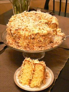 This Pina Colada Cake recipe is the one my mom used to make.  Has Rum in the cake and frosting...AWESOME!
