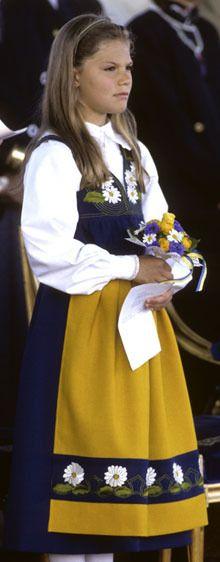 księżniczka koronna Szwecji [księżna Västergötland] Wiktoria - 1988 lub 1989r.