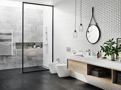 Nowoczesna łazienka z prysznicem Bathroom Renos, Bathroom Faucets, Bathroom Storage, Washroom, Beautiful Bathrooms, Modern Bathroom, Master Bathroom, Bad Inspiration, Bathroom Inspiration