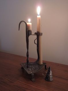 Antique Primitive 18th C 1700's Wrought Iron Standing Hanging Candleholder | eBay  sold   397.00
