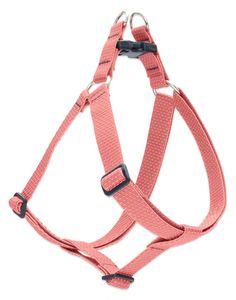 Eco by Lupine 1-Inch Recycled Fiber Step-In Dog Harness, Coral ** You can find more details by visiting the image link.