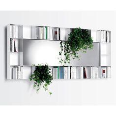 """Opinion Ciatti Belvedere 37.01"""" Bookcase with Mirror"""