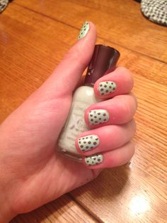 Mint and chocolate polka dots