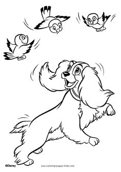 Lady and the Tramp coloring pages. Disney coloring pages. Coloring pages for kids. Thousands of free printable coloring pages for kids! Horse Coloring Pages, Dog Coloring Page, Cartoon Coloring Pages, Disney Coloring Pages, Coloring Pages To Print, Colouring Pages, Printable Coloring Pages, Adult Coloring Pages, Coloring Pages For Kids