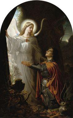 DEATH, THE GATEWAY OF LIFE - painting by Joseph Noel Paton | Sir Joseph Noel Paton