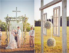 diy outdoor wedding | Burlap Inspired Country Wedding: Trudie + Robbie