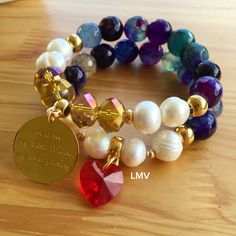 Agate bracelets by Luz Marina Valero