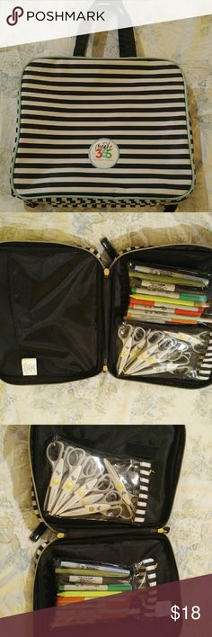 CREATE 365 PLANNER CASE Really nice double zipper planner case. Lots of pockets. Two removable clear pouches. Looks new. Never leaves my house. Needs to be used. create 365 Bags