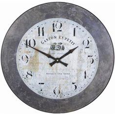 Buy Roger Lascelles Clocks Large Gaston Wall Clock with Slate Effect Border from our Clocks range - Tesco Wall Clock 50cm, Mirror Wall Clock, Big Clocks, Large Clock, French Clock, London Clock, French Walls, Kitchen Clocks, Wall Clock Online
