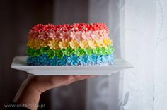Rainbow and flowers- optimistic cake:)