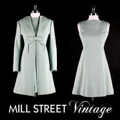 60's dress and coat set