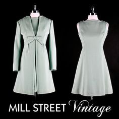 60's dress and coat set