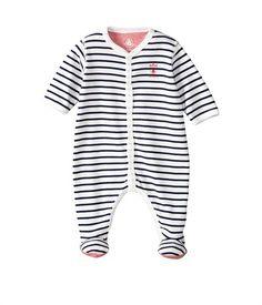 Dors bien bébé garçon en coton à rayure marinière