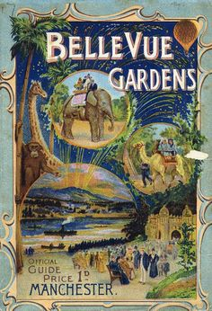 Poster advertising Belle Vue Gardens in Manchester