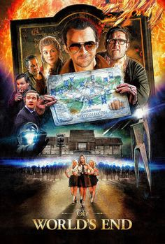 "The World's End - movie poster - Paul Shipper. Also, never listening to ""Alabama Song"" the same way again."
