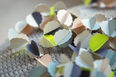 """CLOUDS """"éclair"""" handmade paper garland (Limited edition) - styling and photo © Mi-avril"""
