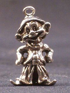 Vintage Disney Sterling Silver 3D Dopey Dwarf Charm Copyrighted, $24.99 Free Shipping
