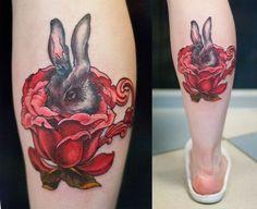 Картинки по запросу тату кролик