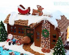 Want to know how to make gingerbread houses? If you're looking for some creative gingerbread house ideas then you're in for a treat. Feast your eyes on these charmingly cute gingerbread house ideas… Cool Gingerbread Houses, Gingerbread House Designs, Gingerbread House Parties, Christmas Gingerbread House, Christmas Cookies, Gingerbread Village, Christmas Sweets, Christmas Baking, Gingerbread Cookies