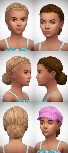 Little Josie's Braids [#ts4_child_hair] [#ts4_bacc_human]