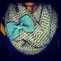 Infinity+scarf+with+bow+by+Chelmarca+on+Etsy,+$80.00