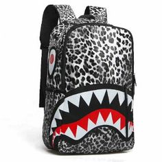 Leopard camouflage backpack with hip-hop school bags travel backpack for  teenagers 00c13f8ef1482
