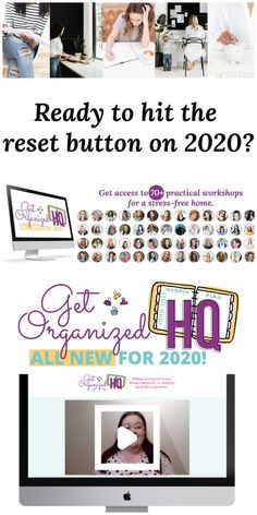 Are you ready to hit the reset button on 2020? If so, check out Get Organized HQ and get access to over 70 practical workshops for a stress-free home, including a workshop from me, Taylor! {more information on Home Storage Solutions 101} #GetOrganizedHQ #GetOrganized #HomeOrganization Wardrobe Organisation, Clutter Organization, Home Organization Hacks, Organizing Tips, Reset Button, Home Storage Solutions, Home Management, Diy Home Crafts, Feeling Overwhelmed