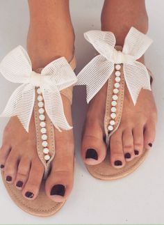 Summer flats with bow #shoes