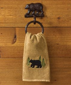 Take a look at this Cast Iron Bear Towel Ring today!