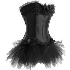 Black Corset and Tutu Set