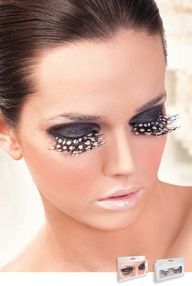 Brown Purple Polka Eyelashes