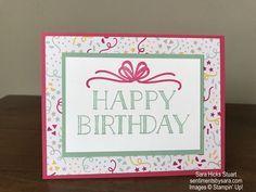 Stampin Up Big on Birthdays card