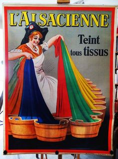 Online veilinghuis Catawiki: Albert Dorfinant ('Dorfi')  - 'l'Alsacienne teint tous tissus'  - circa 1920