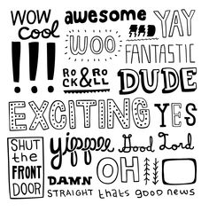 Word Art - WoW, Awesome, Yay