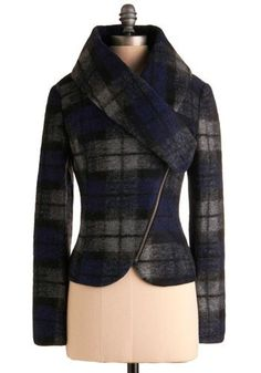 Funky plaid wool coat. by Lapon