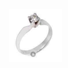 Μονόπετρο δαχτυλίδι με διαμάντι μπριγιάν από λευκόχρυσο Κ18  570223073c1