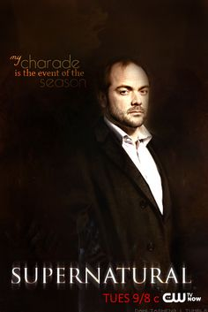 """Crowley """"My charade is the event of the season"""" fan art Supernatural Season 10, Supernatural Poster, Mark Sheppard, Winchester Boys, Misha Collins, Destiel, Superwholock, Best Shows Ever, Sherlock"""