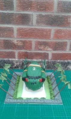 Thunderbirds are  GO!..............Thunderbird 2 cake - Cake by Karen Flude
