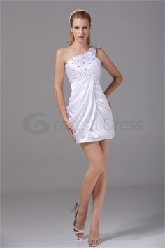 Robe de cocktail colonne/gaine mini/court une épaule en satin de soie  http://fr.GracefulDress.com/Robe-de-cocktail-colonne-gaine-mini-court-une-épaule-en-satin-de-soie-p19559.html