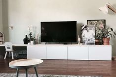 IKEA Besta Hack-IKEA-There is a sofa, tv furniture, InteriorQueenbesta Tiny Living Rooms, Open Plan Kitchen Living Room, Ikea Living Room, Living Room Storage, Home And Living, Ikea Tv Console, Ikea Hack Besta, Ikea Tv Unit, Ikea Tv Stand